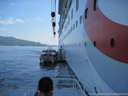 NCL Dawn cruise ship as viewed from tender boat going to Samana.jpg