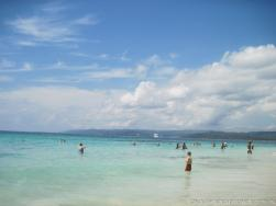 Norwegian Dawn in the distance as viewed from Cayo Levantado beach.jpg