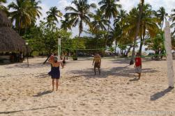 People playing volleyball at Cayo Levantado.jpg