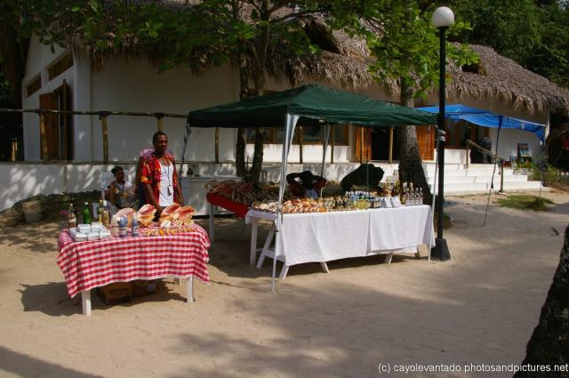 Vendors selling sea shells and vanilla at Cayo Levantado.jpg