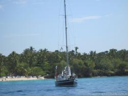 Yacht named Bold Explorer off the coast of Cayo Levantado.jpg