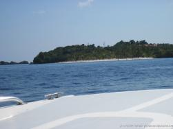 Cayo Levantado beach in view from tender boat.jpg