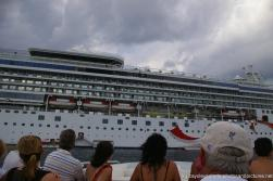 Cayo Levantado tender arriving back at cruise ship Norwegian Dawn off the coast of Samana.jpg