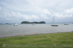 Yachts and catamarans at shore in waters right off of Samana.jpg