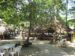 Food shacks at Cayo Levantado.jpg